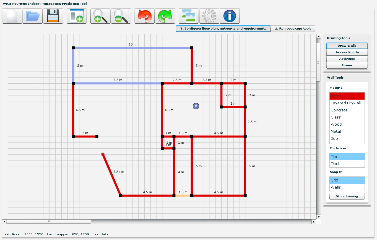 Prediction tool waves for Carpet planner tool